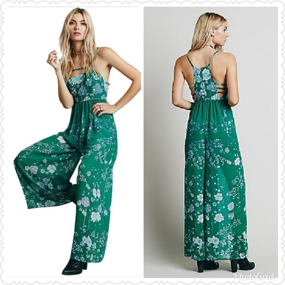 8118bd49ff46 NWT Free People Emerald Jumpsuit